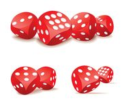 Red dices in action Royalty Free Stock Image
