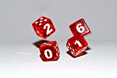 Red dices 2016 Royalty Free Stock Photography