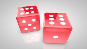 Red dices. Looking perfect match Royalty Free Stock Image
