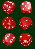 Red dices serie  green Royalty Free Stock Photo