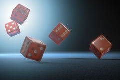 Red Dices Royalty Free Stock Photos
