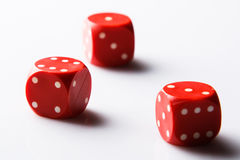 Red dices Royalty Free Stock Photography