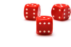 Red dices Royalty Free Stock Photo