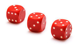 Red dices Stock Images