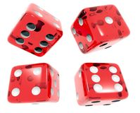 Red dices  on white Royalty Free Stock Photo