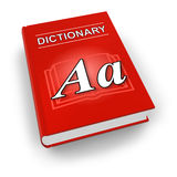 Red dictionary Royalty Free Stock Image