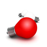 Red different idea light bulb Stock Image