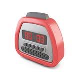 Red digital alarm clock. 3d illustration. Stock Photo