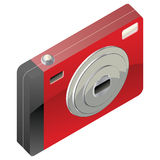 Red digital camera Royalty Free Stock Image
