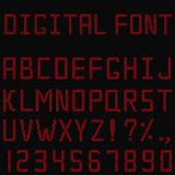 Red digital font Stock Image
