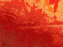Red digital grunge. Red orange and yellow rough grunge texture with decayed digits matrix visible on the surface Stock Photography