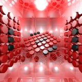 Red Digital Interior Room Stock Photo