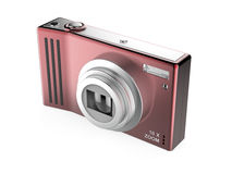 Red digital photo camera Stock Photography