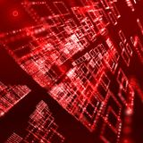 Red digital sphere background Royalty Free Stock Images