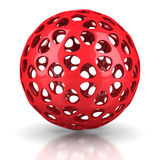 Red Digital Sphere On White Background Royalty Free Stock Photo