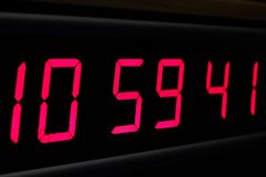 Red digital Timer, numbers counting. The time on the clock Stock Photography