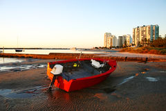 Red Dinghy Royalty Free Stock Images