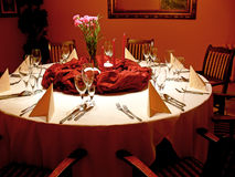 Red dining room royalty free stock images
