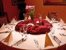 Red dining room Royalty Free Stock Photos