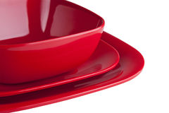 Red Dinner Plates Royalty Free Stock Photo