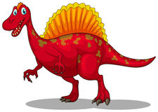 Red dinosaur with sharp claws Royalty Free Stock Image