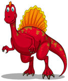 Red dinosaur with sharp claws Stock Photo