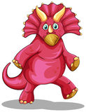 Red dinosaur with sharp horns Stock Photos