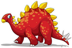 Red dinosaur with spikes tail Stock Images