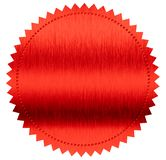 Red diploma or certificate metal foil seal isolated stock images