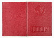 Red diploma cover Stock Photos