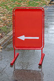 Red direction board Royalty Free Stock Photo