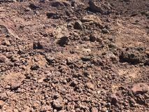 Red dirt, mars like, at Haleakala in Maui stock images