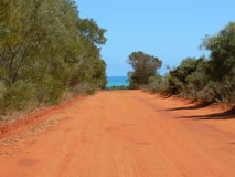 Red dirt road Royalty Free Stock Photo