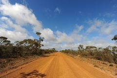 Road disappearing in to the distance, Australia stock image