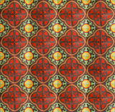 Red dirty Chinese ceramic floor Royalty Free Stock Photo