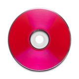 Red Disc. Red CD with Copy Space Isolated on a White Background Stock Image