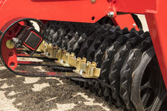 Red Disc Harrow Trailer for a Farming Tractor Royalty Free Stock Photo