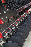 Red Disc Harrow Trailer for a Farming Tractor Royalty Free Stock Images