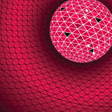 Red disco ball Stock Photos