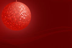 Red disco ball Stock Images