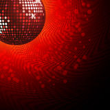 Red disco ball and haltone Stock Image