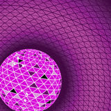 Red disco ball. Vector illustration Royalty Free Stock Photo