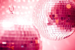 Red disco globes Royalty Free Stock Photography