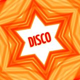 Red disco star background. Red abstract disco star banner background. Vector illustration Stock Photos