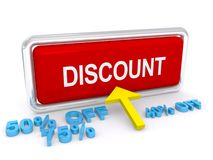 Red discount button Royalty Free Stock Photos