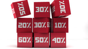 Red discount cubes Stock Image