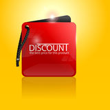 Red discount label Stock Photography