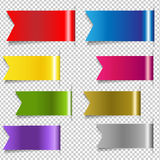Red Discount Ribbons. Vector Illustration Stock Photos