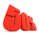 Red 50% discount sign Royalty Free Stock Image