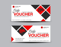 Red Discount Voucher template flyer design polygon background Stock Photos